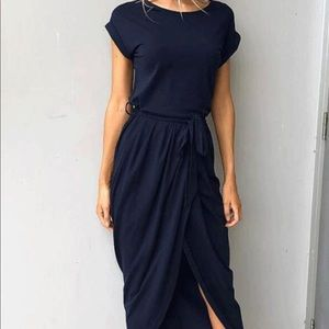 Love Bug Maxi Dress in Navy Blue